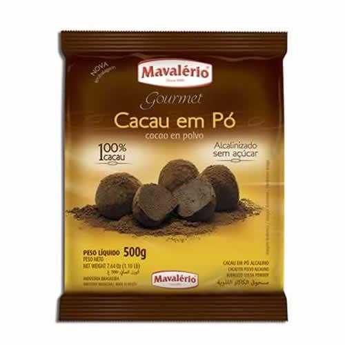 CACAU EM PÓ MAVALERIO 500G - CACAU CENTER