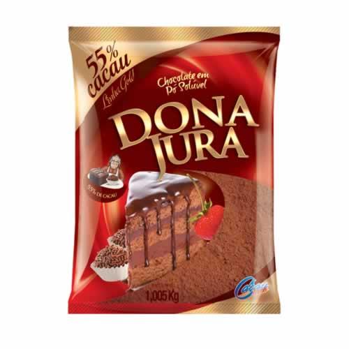 CHOC EM PÓ 55% DONA JURA - CACAU CENTER