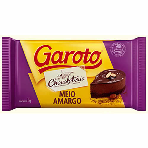 CHOC GAROTO MEIO AMARGO 2,1KG - CACAU CENTER