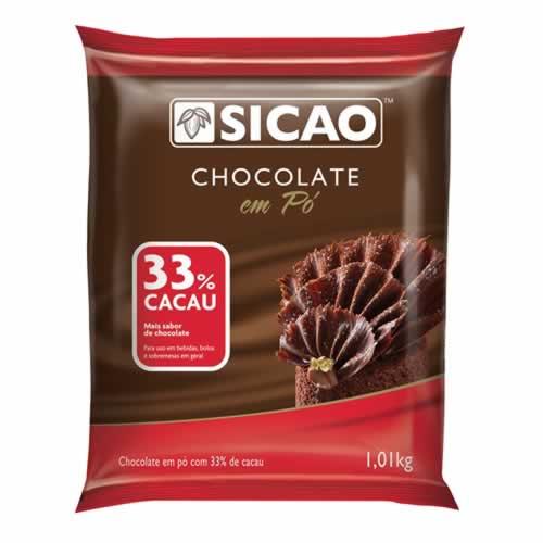 CHOCOLATE EM PÓ 33% SICAO 1,01KG - CACAU CENTER