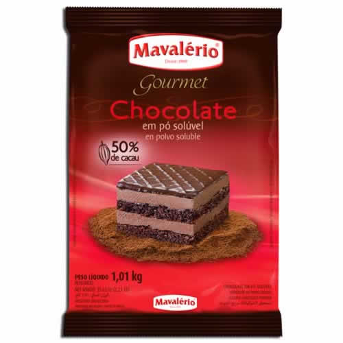 CHOCOLATE EM PÓ 50% MAVALERIO 1KG - CACAU CENTER