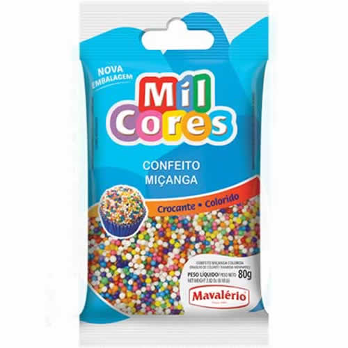 CONFEITO MICANGA COLORIDA MAVALERIO 500G - CACAU CENTER