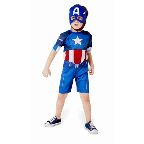 FANTASIA INFANTIL CAPITAO AMERICA CURTO - CACAU CENTER