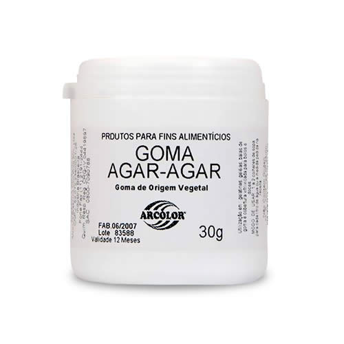 GOMA AGAR AGAR ARCOLOR 30G - CACAU CENTER