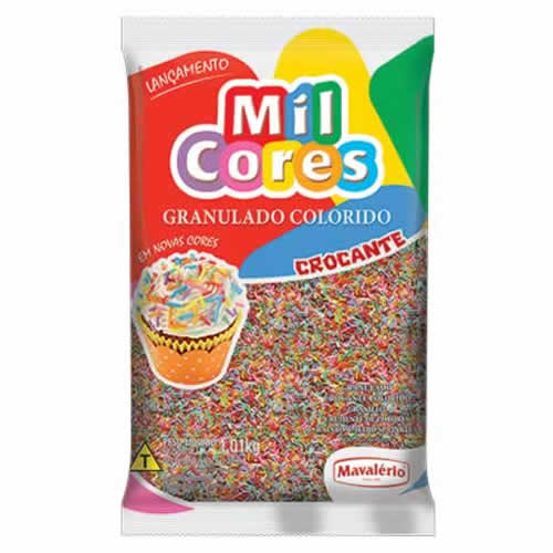 GRANULADO COLORIDO MAVALERIO 500G - CACAU CENTER