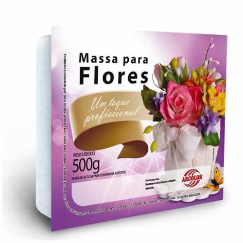 MASSA FLORES ARCOLOR 500G - CACAU CENTER