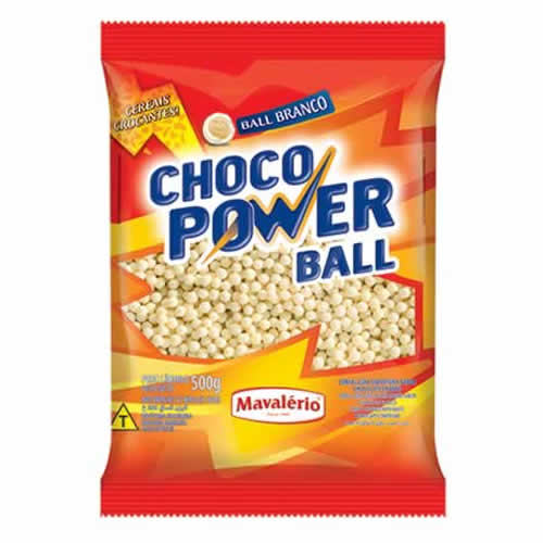 MINI BALL BRANCO MAVALERIO 500G - CACAU CENTER