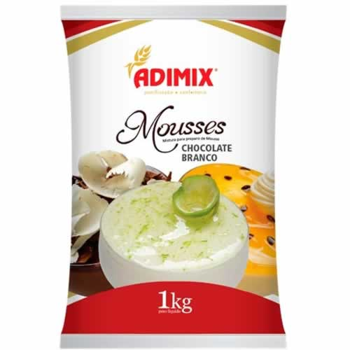 MOUSSE CHOCOLATE BRANCO ADIMIX 1KG - CACAU CENTER