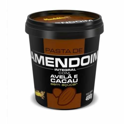 PASTA DE AMENDOIM MANDUBIM AVELA COM CACAU 480G - CACAU CENTER
