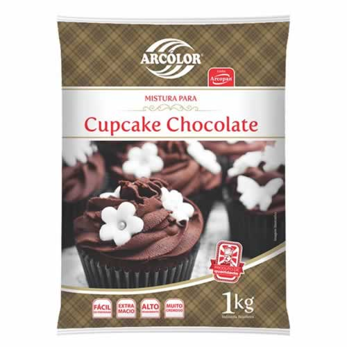PO PREPARADO CUPCAKE CHOCOLATE ARCOLOR 1KG - CACAU CENTER