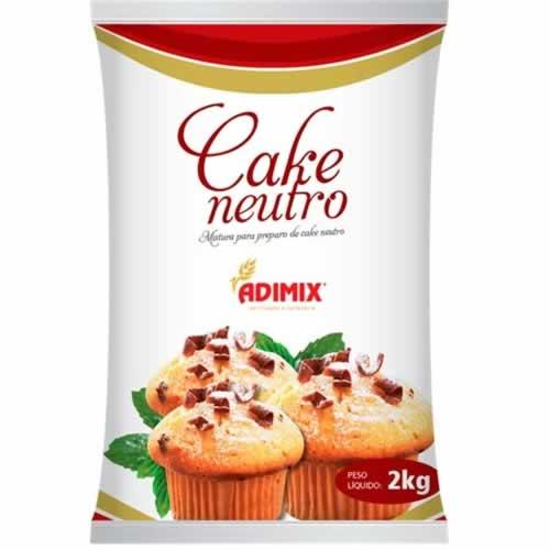 PO PREPARO CAKE NEUTRO ADIMIX 2KG - CACAU CENTER