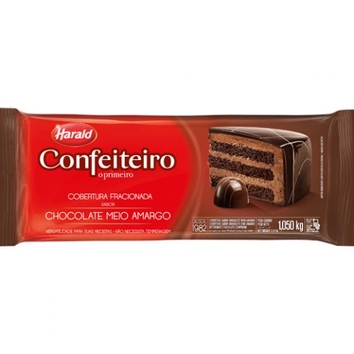 COB CONFEITEIRO MEIO AMARGO HARALD 1,05KG 13,99