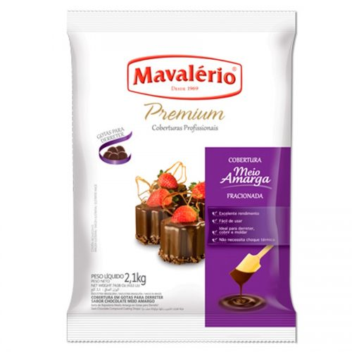 GOTAS PREMIUM MAVALERIO MEIO AMARGO 2,1KG 28,99
